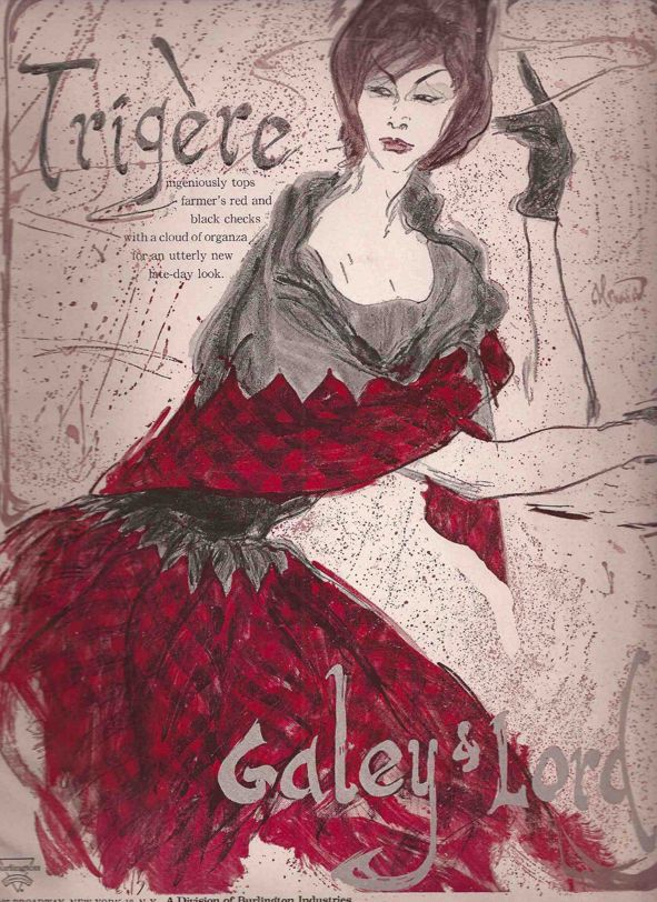 Fashion Illustration Book Cover ~ Illustration by roy colonna trigère fashion galey