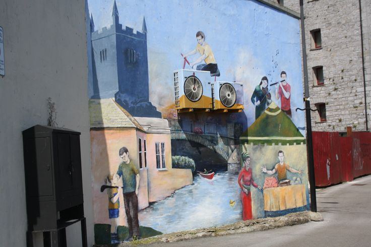 Street art in Ennis, County Clare, Ireland. Artist unknown.