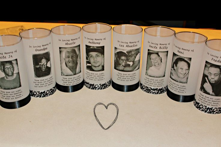 These candles can be used at funerals, wedding memorial tables, kept in homes for personal memories, giving as gifts to grieving loved ones, or