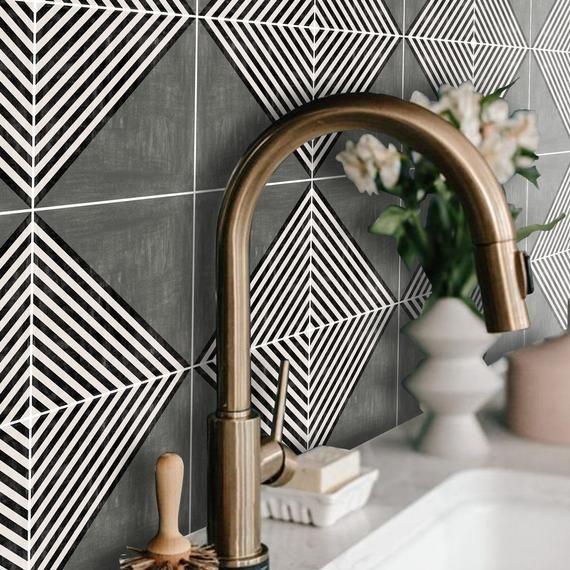 Kitchen And Bathroom Splashback Removable Vinyl Wallpaper Etsy Vinyl Wallpaper How To Install Wallpaper Bathroom Splashback