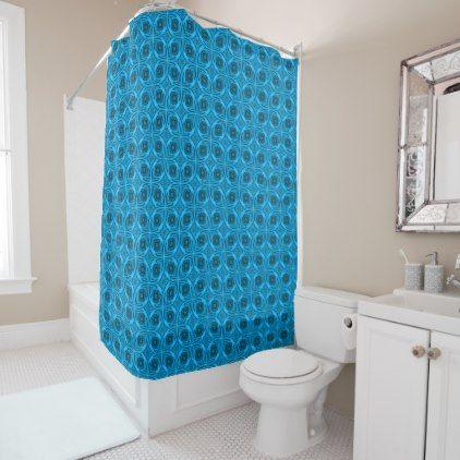 The Blues Kaleidoscope Vintage  Shower Curtain - cool gift idea unique present special diy