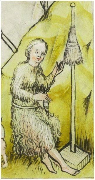Eve: Sarnen, Benediktinerkollegium, Cod. membr. 8, p. 5r – Speculum Humanae Salvationis http://www.e-codices.unifr.ch/en/bks/membr0008/5r