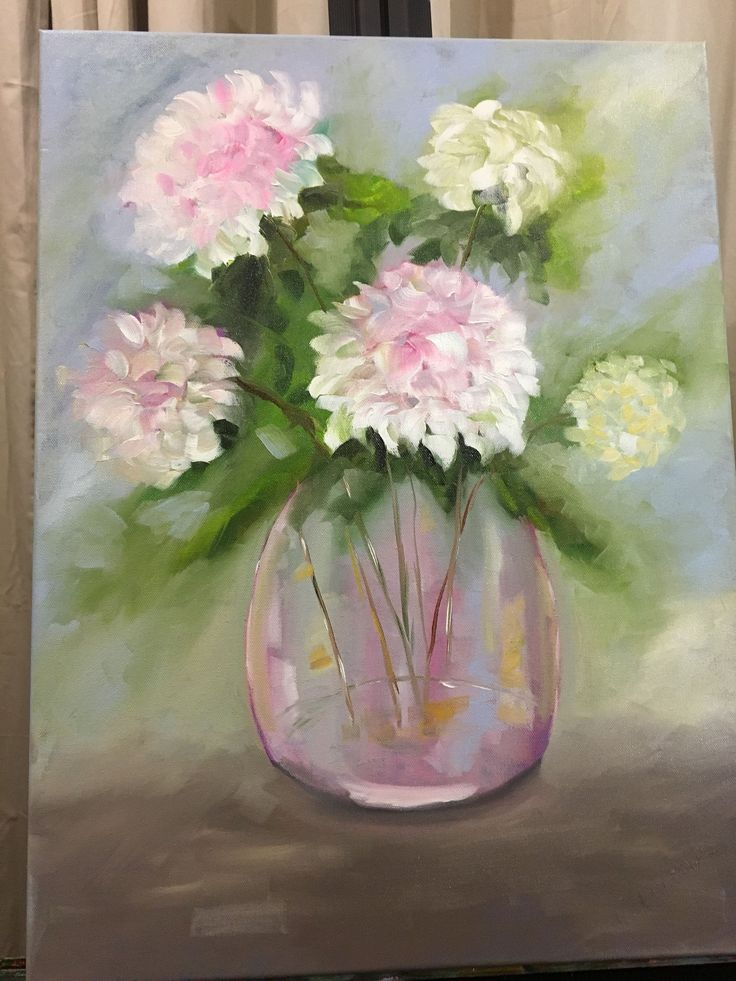 https://flic.kr/p/NFVXv1 | Serenity. |  Oil on stretched canvas.  Very soft tones of blue, lavender pink, yellow, creme, white, grey, blue.  18 x 24.  $90.00