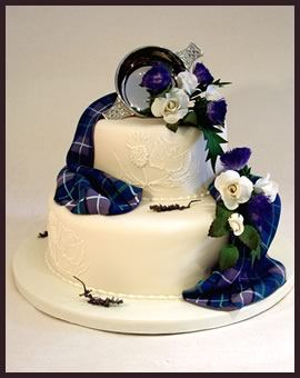 "Tartan Wedding Cakes and Edible Tartan Icing in Edinburgh - by Too Good To Eat  Yes this one is pretty - they have ones 1000x prettier on their website. Go and look! I especially love their ""draped"" cakes."