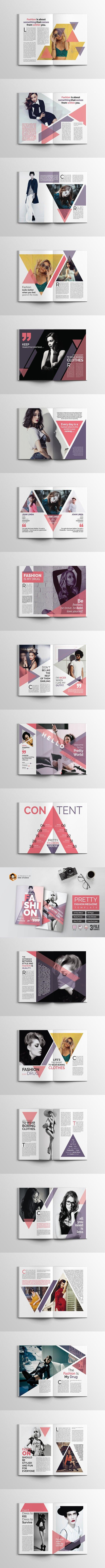 PRETTY Fashion Magazine Template