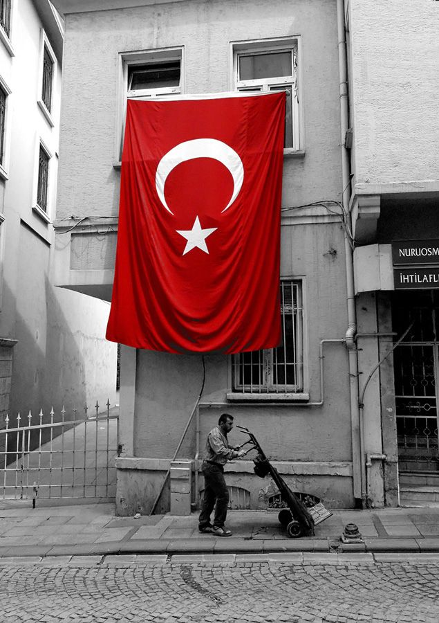 A Turkish flag in Istanbul.