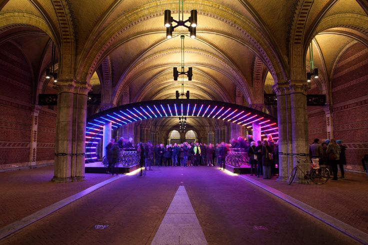 bicycle lightbattle by venividimultiplex (VVM) at the rijksmuseum, amsterdam, the netherlands