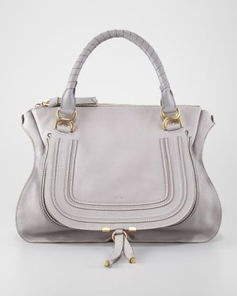 Chloe, Marcie Large Shoulder Bag, Cashmere Gray - Neiman Marcus. Love Chole bags. $1895