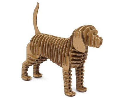 modern artwork by Animi Causa BoutiqueCrafts Ideas, Modern Artworks, Eco Dogs, Animie Causa, 3D Puzzles, Dogs Eco, Dogs Sculpture, Cardboard Dogs, Products