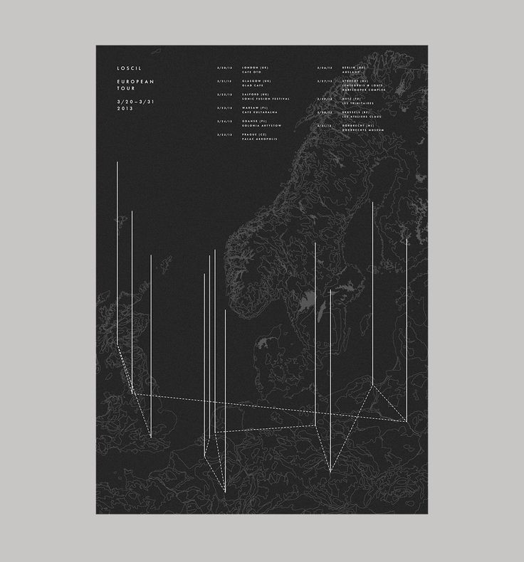 Loscil: European Tour 2013 - Art & Design by D. Kim