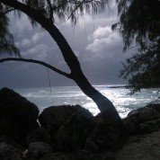 Storm approaching on Dover Beach, Christ Church, Barbados (April, 2012)