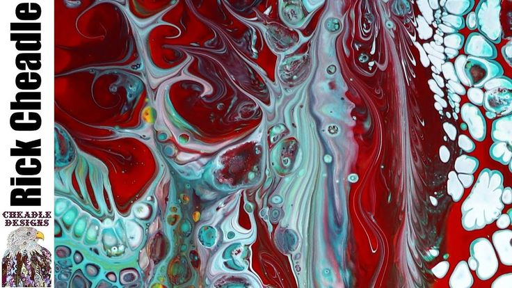 Liquitex Pouring Medium Golden Fluid Acrylics and B'laster Silicone on Easy Flow Panel - YouTube