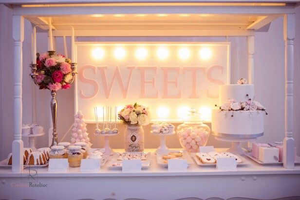 Sweets and winter theme candy bar