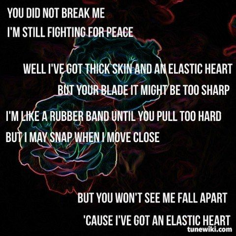 """#LyricArt for """"Elastic Heart - From """"The Hunger Games: Catching Fire"""" Soundtrack"""" by Sia"""