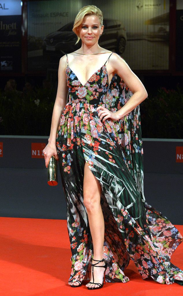Elizabeth Banks from 2015 Venice Film Festival: Star Sightings  Yet again, the actress commands attention in a polarizing floral Elie Saab gown.