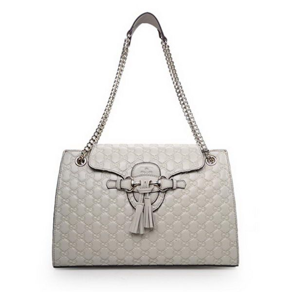 109d5a23e96 Gucci Emily Guccissima Leather Chain Shoulder Bags 295403