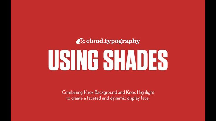 Cloud.typography — Using Shades on Vimeo