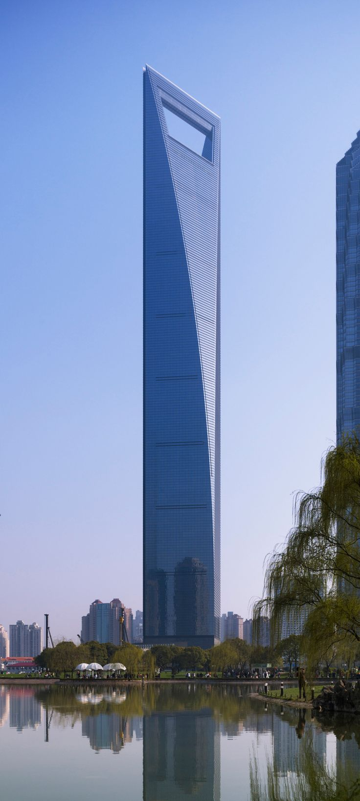 Shanghai World Financial Center, China by Kohn Pedersen Fox Associates Architecture :: 101 floors, height 494m