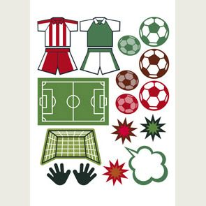 Soccer images available on printable sheets. The elements can be used in your cardmaking and scrapbooking, etc.  #printables #sport #soccer