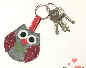 how to make handmade felt keychain