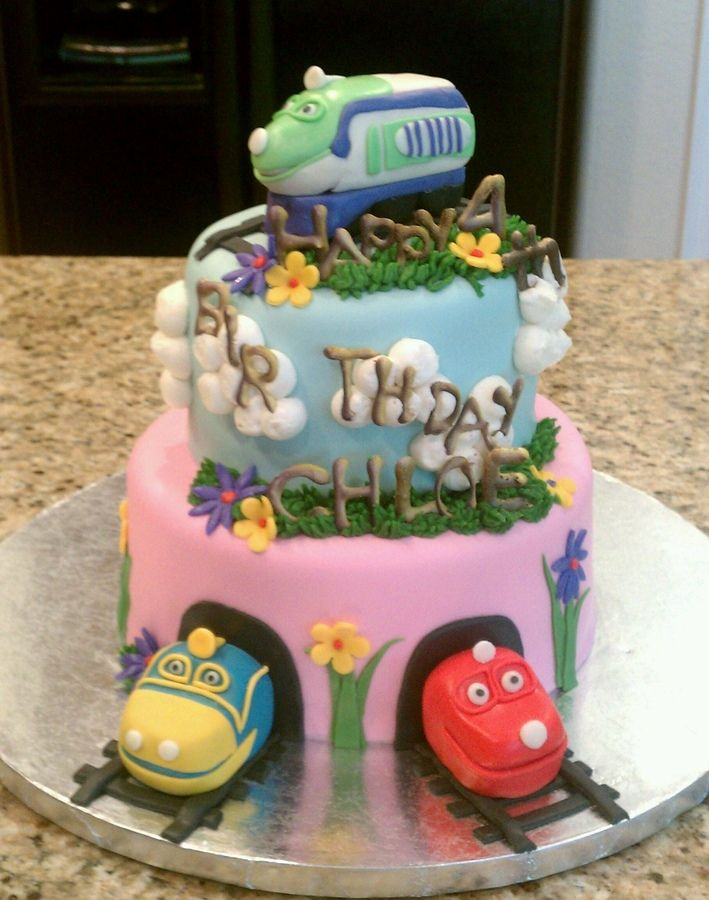 Best Chuggington Cakes Images On Pinterest Birthday Party - Chuggington birthday cake