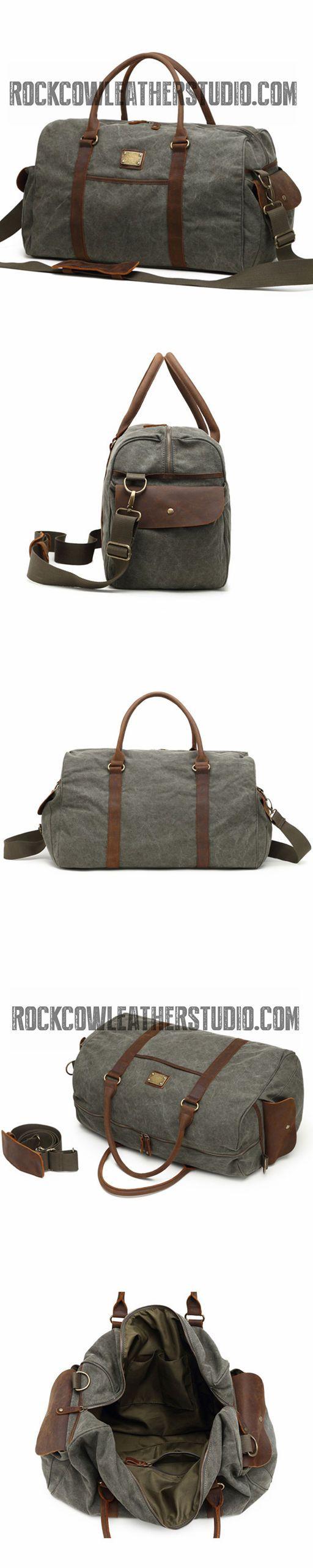 Canvas Fashion Travel Bag, Waterproof Shoulder Bag, Overnight Bag FX944-1