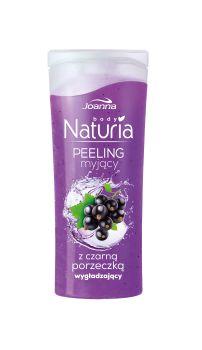 Peeling myjący do ciała z czarną porzeczką Naturia body. Skóra jest odświeżona i oczyszczona, gładka i miła w dotyku oraz przyjemnie pachnąca.