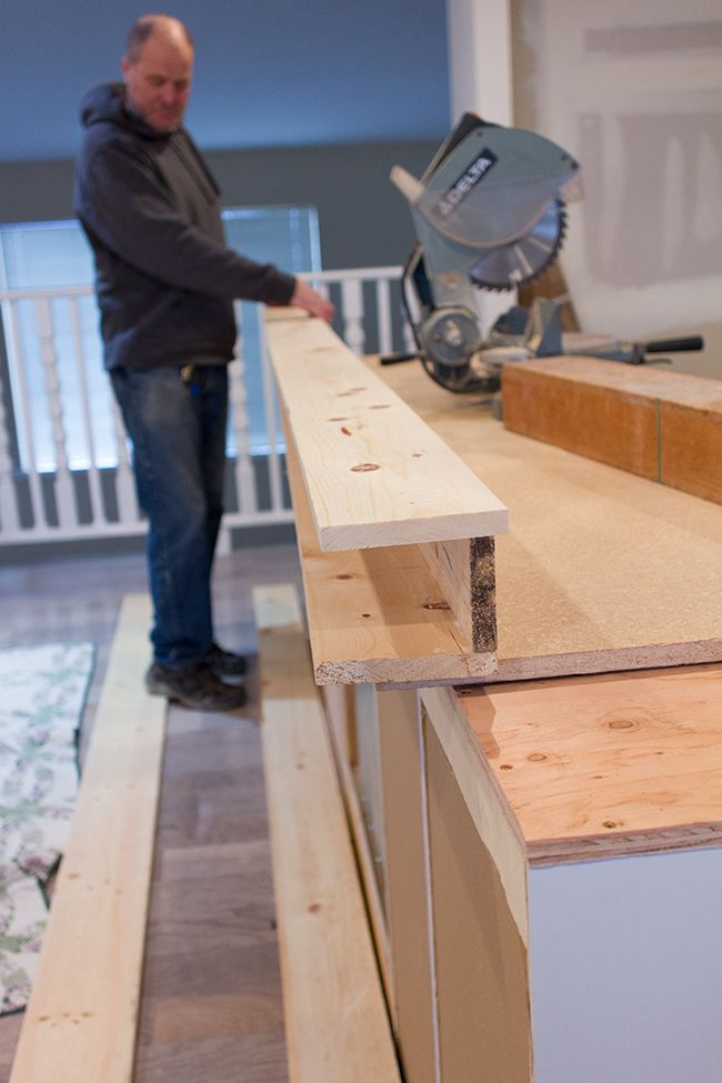Kitchen chronicles diy wood beams beams diy wood and for How to build a box beam
