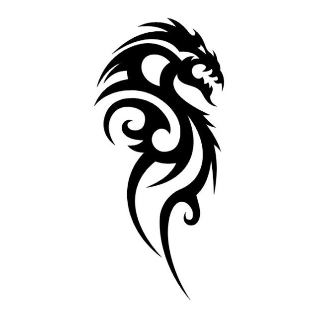 Днем рождения, картинка дракона черно белая