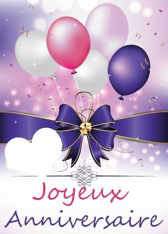 Montage Photo Joyeux Anniversaire Pixiz En 2020 Jolie Carte Anniversaire Photo Joyeux Anniversaire Bon Anniversaire Fleurs