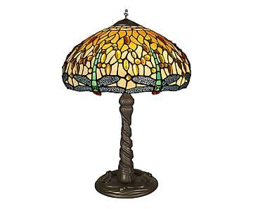 Lampada da tavolo in vetro Dragonfly oro/giallo - d 41 cm