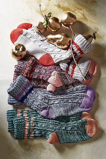 Varsity Knit Socks #Anthropologie