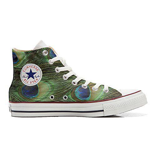 Converse All Star personalisierte Schuhe (Handwerk Produkt) Pfau - http://on-line-kaufen.de/make-your-shoes/converse-all-star-personalisierte-schuhe-pfau