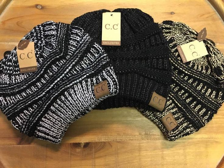 Our favorite CC Beanies with a metallic twist!