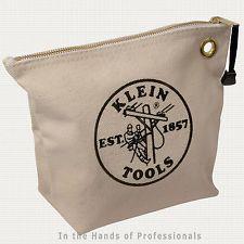 Klein Tools 5539NAT Canvas Zipper Bag 1PC   NEW