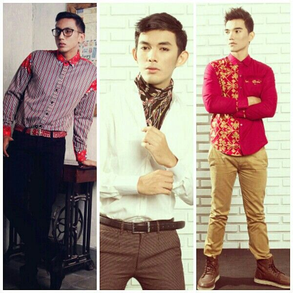 Mavazi menswear spring/summer,traditional tribal pattern in modern outfit from east indonesia