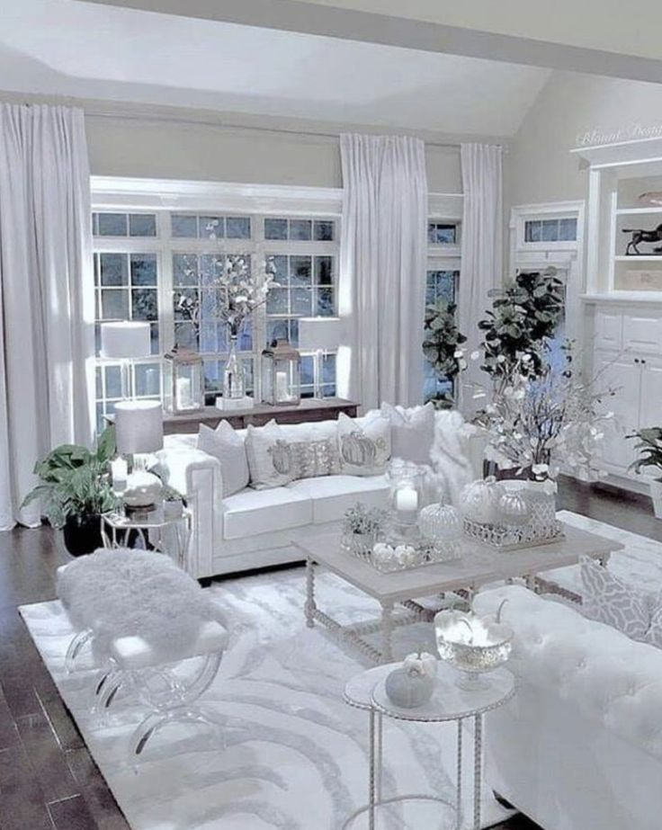 Best The Most Beautiful White Living Room With Whitcdofa Gl 400 x 300