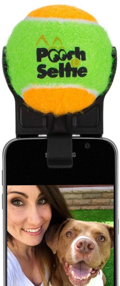Dog Selfie Stick Ball Prop Clips On Cell Phone Best Dog Selfies Pooch Selfie #PoochSelfie