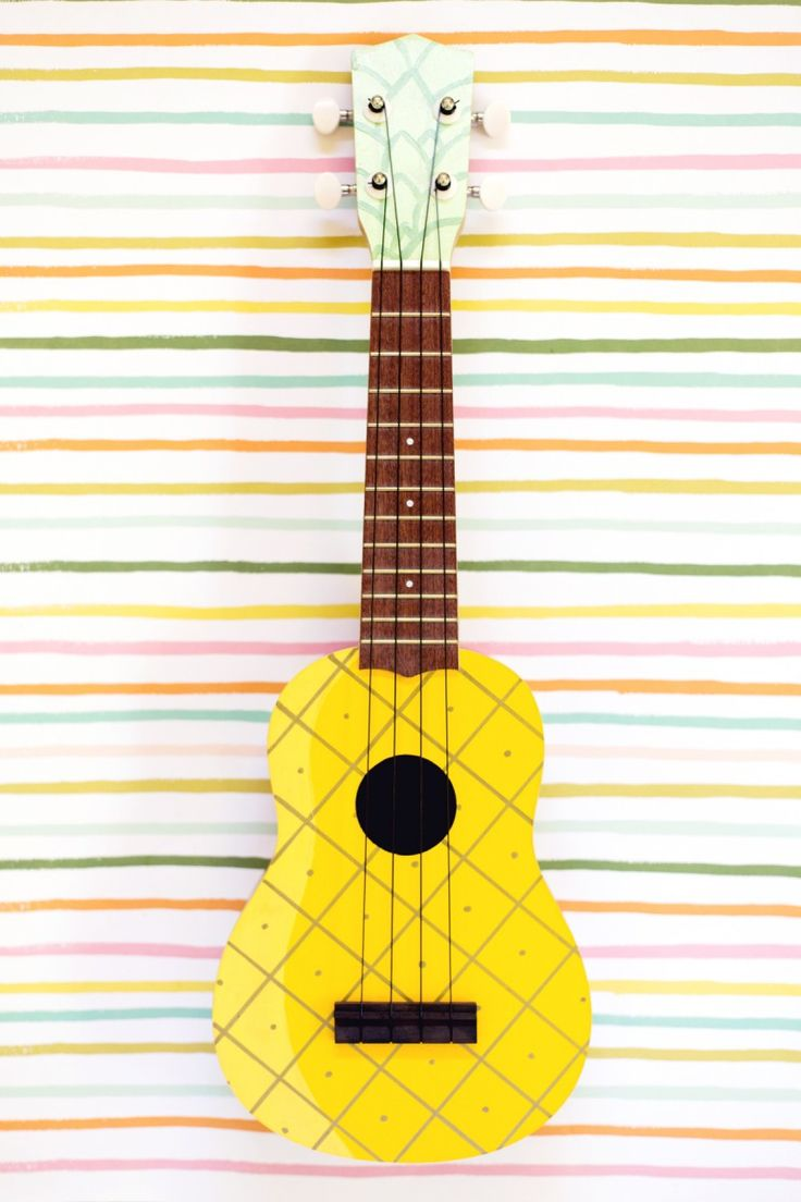 DIY Painted Pineapple Ukulele - who wouldn't want to strum this guy?