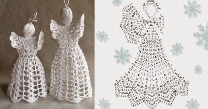 Per realizzare un'angelo natalizio all'uncinetto ci vuole un po di filato bianco e l'uncinetto del numero adatto per il tipo di filato che a...