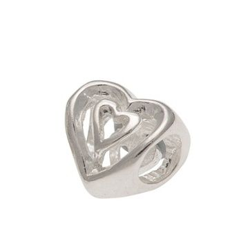 Slider Charm - HEART - Sterling Silver or 9ct Gold