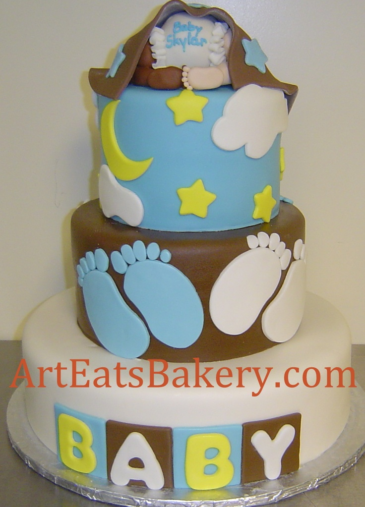 Baby Shower Cakes Unique ~ Best custom unique baby shower cake designs images on