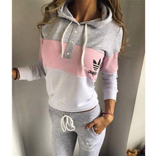 Adidas Fashion Multicolor Hoodie Sweater Pants Trousers Set Two-Piece ,Adidas Shoes Online,#adidas #shoes