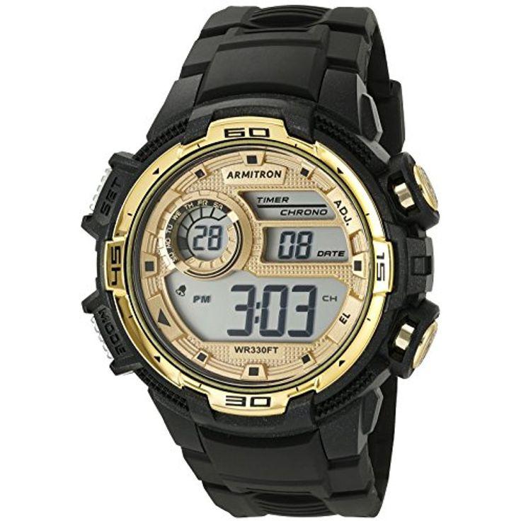 Armitron Sport Men's 40/8347BKGD GoldTone Accented