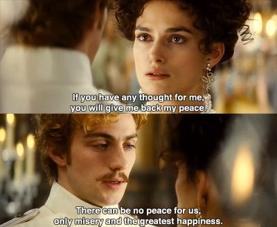"""There can be no peace for us. Only misery and the greatest happiness."""
