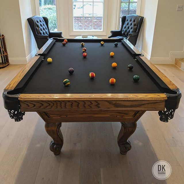 New Black Felt And Pockets On This 8 World Of Leisure Looks Sharp Billiards Dkbilliards Playpool Mancave Gameroom Black Felt Play Pool Billiards