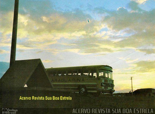 Ônibus da empresa Viação Araguarina, carro 857, carroceria Mercedes-Benz Monobloco O-321, chassi Mercedes-Benz O-321. Foto na cidade de Brasília-DF por ACERVO REVISTA SUA BOA ESTRELA, publicada em 14/10/2016 20:55:17.