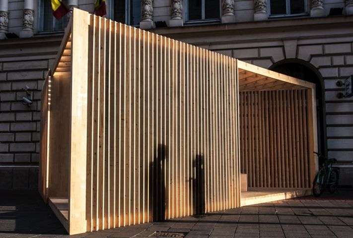 Timber Pavilion Inspires Ideas for Bucharest. Poiana Lui Iocan by FieldTrip Studio - News - Frameweb