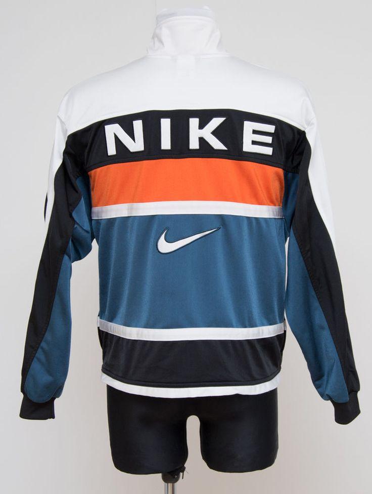 Mens Nike Vintage Tracksuit Jacket Sweatshirt Navy Black Size M Medium Exc In Clothes Shoes
