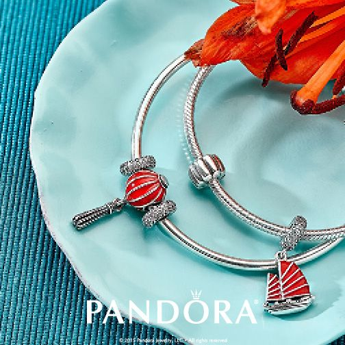 Sail up and away with your summer style! Layer bangles with colourful charms to brighten up your look, perfect for any summer gathering.